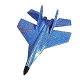 BAB-SMILE 飛行機 おもちゃ 子供 EPP 耐久性 グライダー 手投げ 知育玩具 (ブルー&オレンジ)