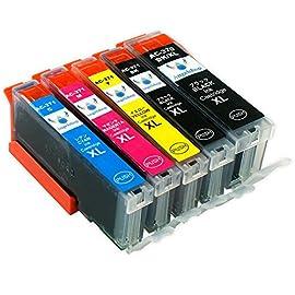 【Angelshop】Canon(キャノン)互換インクカートリッジ BCI-371XL(BK/M/C/Y)+370XL(BK)【増量タイプ】5色マルチパック 残量表示機能付[フラストレーションフリーパッケージ(FFP)]