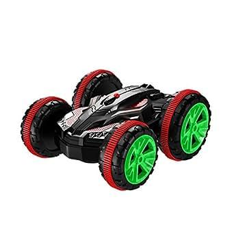 Smija ラジコンカー 2.4Ghz無線操作 四駆 水陸両用スタントカー 360回転 RCカー 車おもちゃ 赤