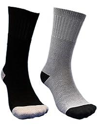 (AC730) 靴下 メンズ 防寒 軍足 純綿で通気性がよくパイル地だから足に優しく暖かい先丸ソックス 消臭?吸汗の銀イオン使用 4足組 24.5~27
