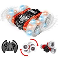 Maxxrace RC Cars Stunt Car Toys,Remote Control Off Road Car 4WD 1:18 Scale Double-Sided 360 Degree Rolling Spinning Tumbling Bright LED Lights for Kids Birthday [並行輸入品]
