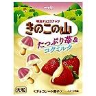 明治製菓 大粒きのこの山たっぷり苺&コクミルク 40g×10個