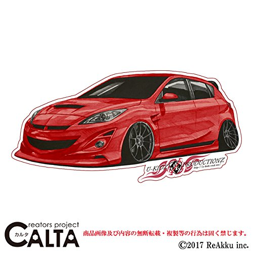 CALTA-ステッカー-アクセラ改-赤 (3.Lサイズ)