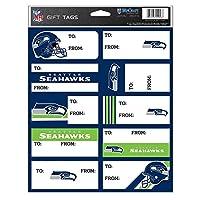 (Seattle Seahawks, 22cm x 28cm ) - NFL Gift Tag Sheet