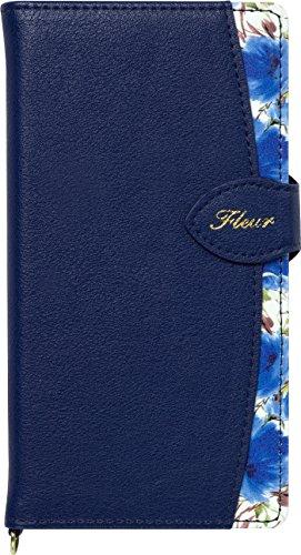 Natural Design FLEUR手帳型 マルチサイズ対応 (マルチタイプ) ネイビー (カードポケット&ハンドストラップ付)の詳細を見る