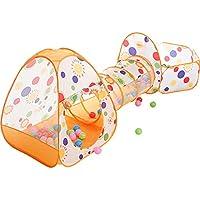 子供の遊びのテントトンネル赤ちゃん遊び家屋内遊園地簡単な折り畳みクロール (Color : Orange, Size : 90 * 80 * 305cm)