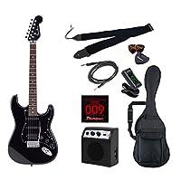 PhotoGenic エレキギター 初心者入門ライトセット ストラトキャスタータイプ STH-200/BK ブラック オールブラック仕様