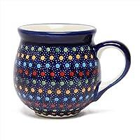 ポーランド食器 ポーリッシュポタリー マグカップ 200ml 小 K67-IZ20 ドット マヌファクトゥラ ボレスワヴィエツ陶器