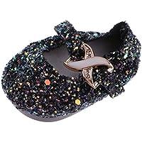 Dovewill 3カラー選ぶ スパンコールデザイン キラキラ 靴 フラットシューズ 18インチ人形ドール アクセサリー - ブラック