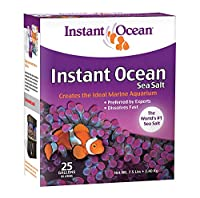 [Instant Ocean] [ Sea Salt for Marine Aquariums, Nitrate & Phosphate-Free 25-Gallon] (並行輸入品)