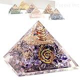 高品質 ピラミッド オルゴナイト レイキ マントラシンボル 置物 【アメジスト】1個