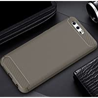 Huawei Honor Note8 Armor ケース, Soft Carbon Fiber Scratch Drawbench Texture Bumper Frame Ultra Hybrid Thin カバー, TAITOU Cool Ultralight Slim Anti-Drop Protect Phone ケース For Huawei Honor Note 8 Gray