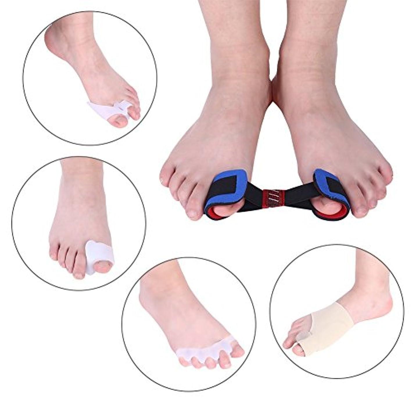 外反母趾腱膜矯正、9個痛み緩和腱膜プロテクタースリーブセット適切なつま先アライメント