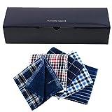 メンズ ウーノ ガーゼハンカチ タオル 5枚セット 25cm 綿100% box-gセット (ギフトボックス付)