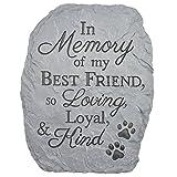 Carsonホームアクセント樹脂Stepping Stone PlaqueメモリのBest Friend