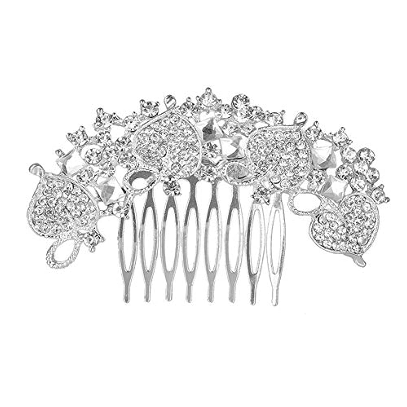 合理的反響する主に髪の櫛、櫛、花嫁の髪の櫛、クラウン髪の櫛、結婚式のアクセサリー、ラインストーンの髪の櫛、ブライダルヘアアクセサリー