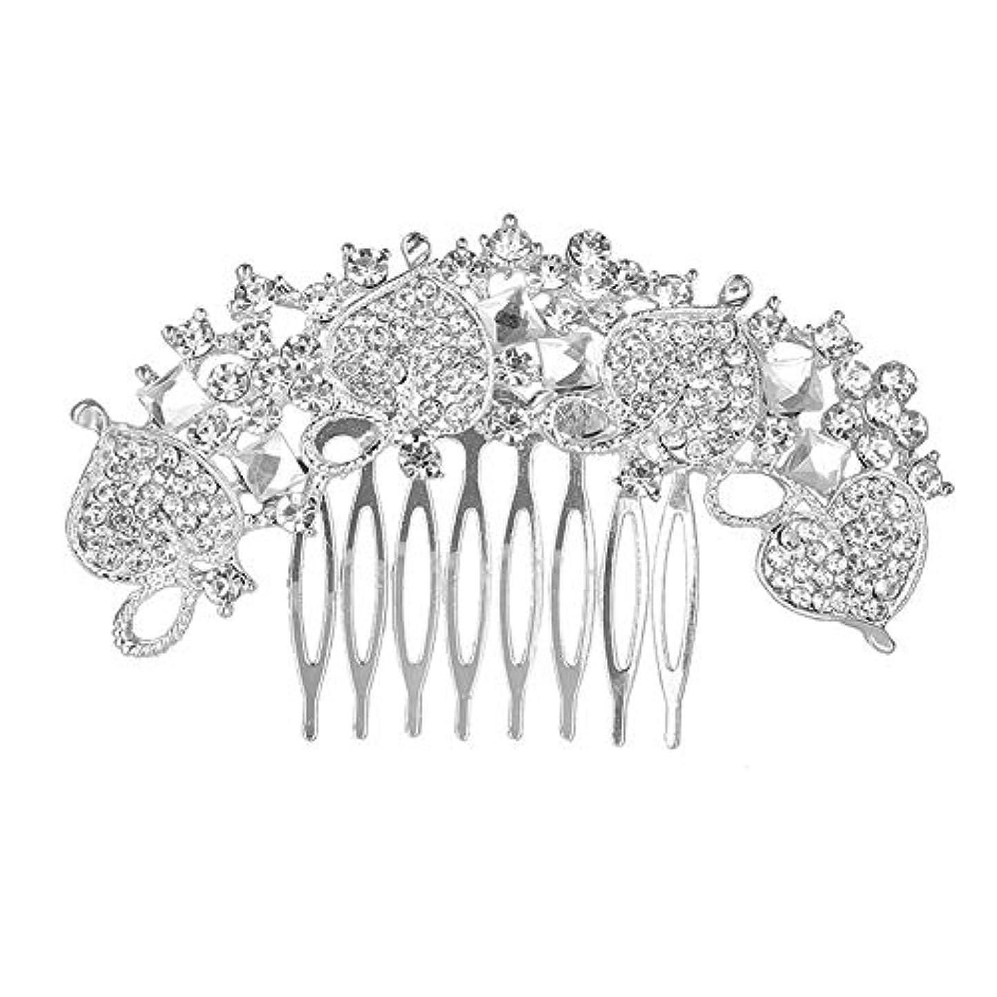 参照するミリメートル調整する髪の櫛、櫛、花嫁の髪の櫛、クラウン髪の櫛、結婚式のアクセサリー、ラインストーンの髪の櫛、ブライダルヘアアクセサリー