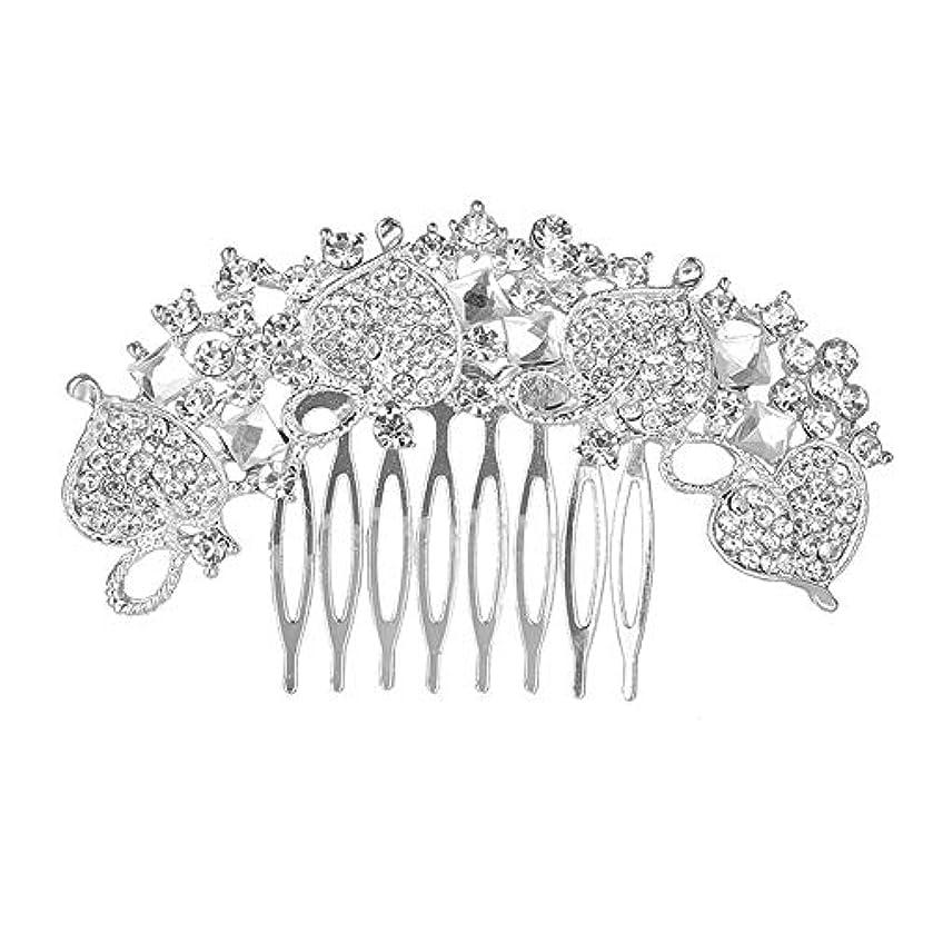 獣モディッシュ機構髪の櫛、櫛、花嫁の髪の櫛、クラウン髪の櫛、結婚式のアクセサリー、ラインストーンの髪の櫛、ブライダルヘアアクセサリー