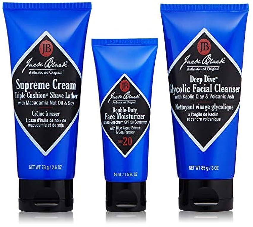 符号静める撤回するジャックブラック Shave Essentials Kit: Deep Dive Glycolic Facial Cleanser + Supreme Cream Triple Cushion Shave Lather...