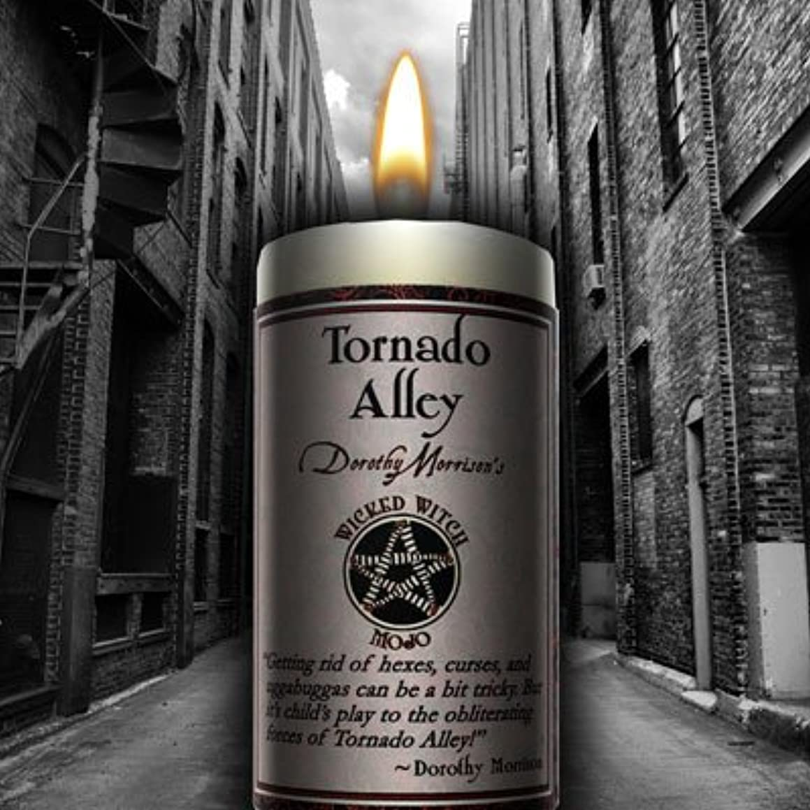 めるいたずらなリーンWicked Witch Mojo Tornado Alley Candle by Dorothy Morrison