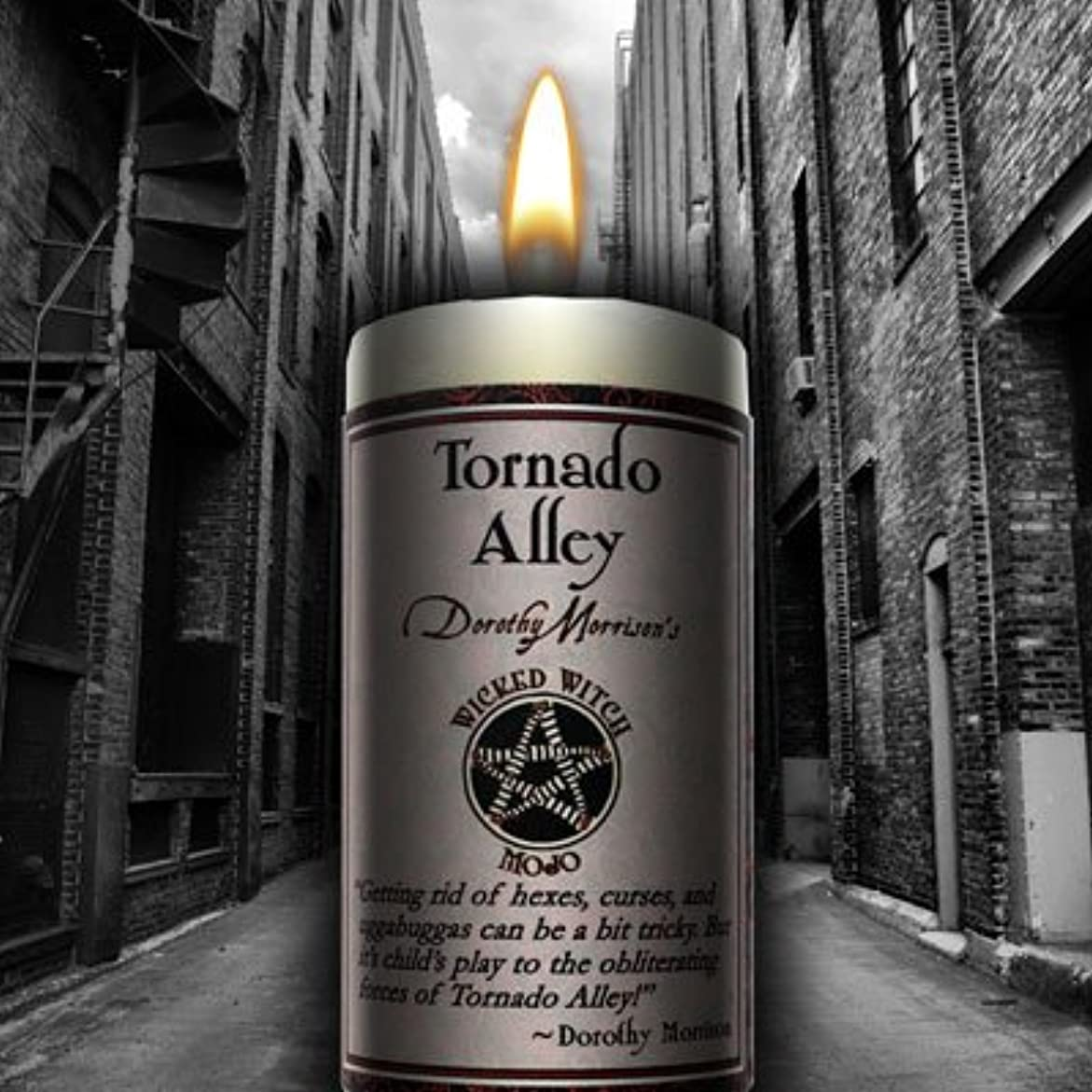 エッセイ作曲する契約したWicked Witch Mojo Tornado Alley Candle by Dorothy Morrison