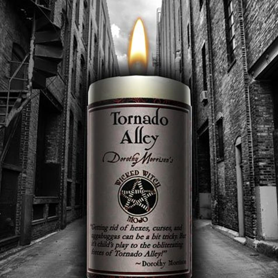 集中的な爆発するヘッドレスWicked Witch Mojo Tornado Alley Candle by Dorothy Morrison