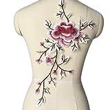 (ステキ ライフ)Suteki Life2017 新作手芸 アップリケ ウェディングドレス チャイナドレス用 布貼り 牡丹の花 高級感 衣装アクセサリ 人気 (1#)