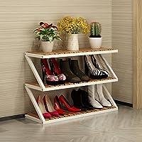 靴ラック多層シンプル家庭用靴キャビネットリビングルームシューズラックストレージラックホールキャビネット (色 : 80 * 26 * 52cm-d)