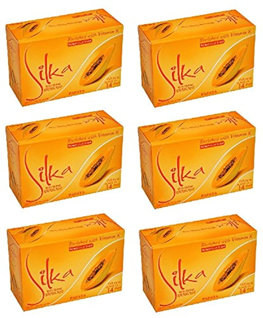 イブ請求減少シルカ パパイヤソープ 135g Silka Papaya Soap (6個セット)