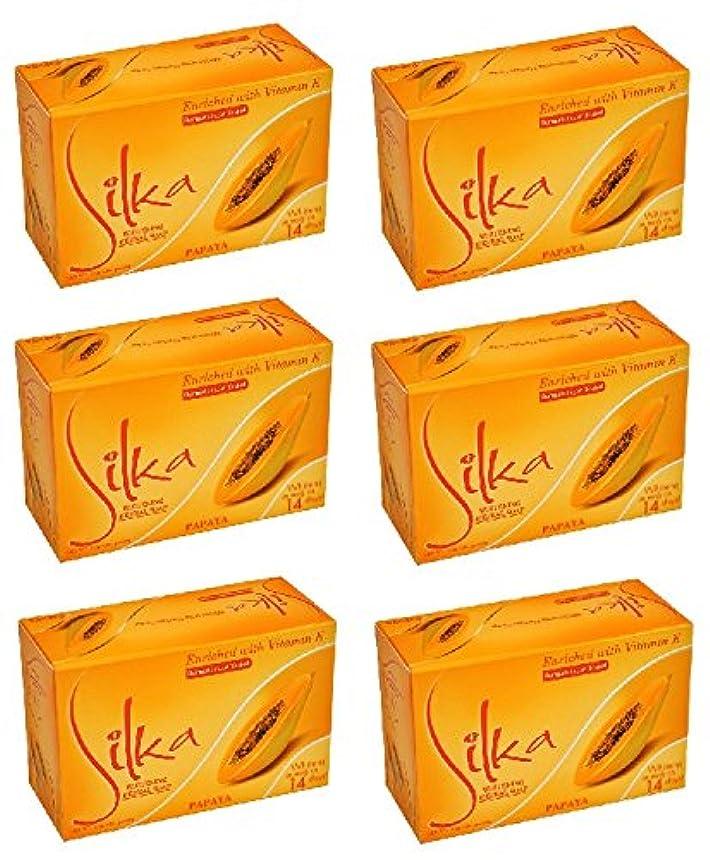 間違えたタイプ解釈するシルカ パパイヤソープ 135g Silka Papaya Soap (6個セット)