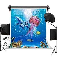 深海の生き物 背景 写真 背景 誕生日パーティー ユース ファッション 写真 装飾 6x9フィート STS HXST021