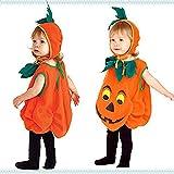 (レブール)ハロウィン 衣装 子供 かぼちゃ ベビー ジャックランタン 女の子 男の子 子供用 仮装 ダンス衣装 (M(100~120cm))
