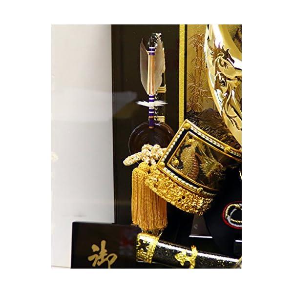 五月人形 兜ケース飾り ゴールドハヤブサ兜 間...の紹介画像9