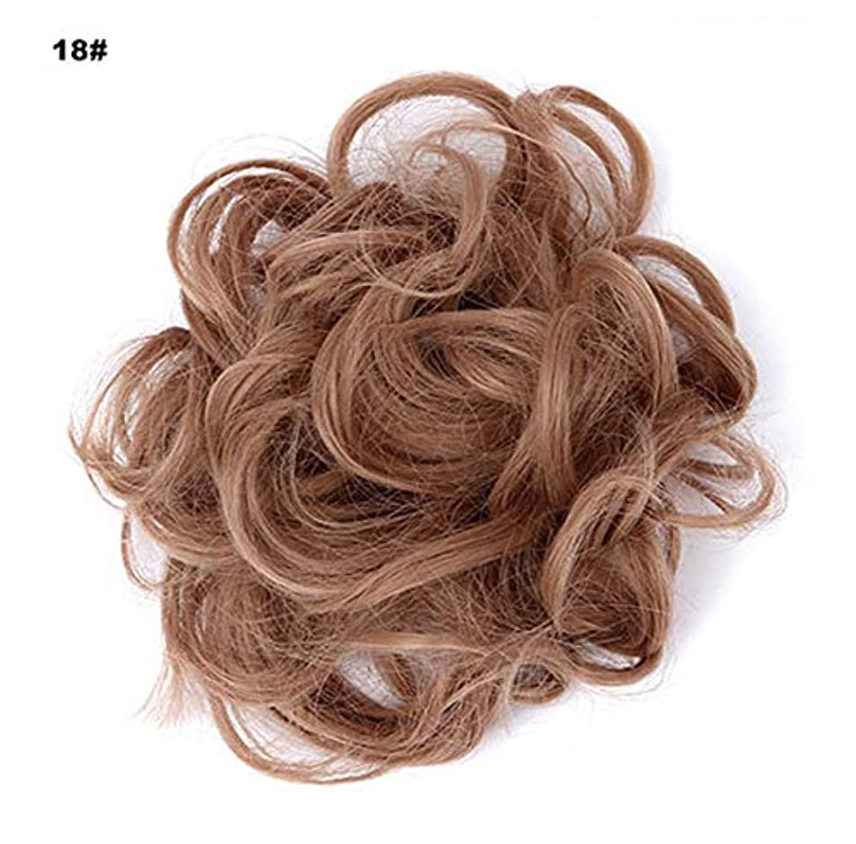 友だち思慮のない乱れポニーテールドーナツシニョン拡張機能、乱雑なシュシュ髪お団子リボンアクセサリー、女性のためのカーリー波状の作品