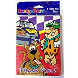 Cartoon Network Scooby Doo & Fred Flintstone Party Thank You Notes &封筒( 8 Count )