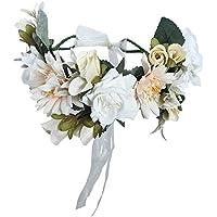 Women Flower headband Hair Wreath - Floral Hairband Wedding Hair Wreath Halo Floral Crown
