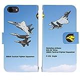 iPhone7 対応 ケース スタンド 手帳 型 Booklet ダイアリー 航空自衛隊 306飛行隊 F-15J