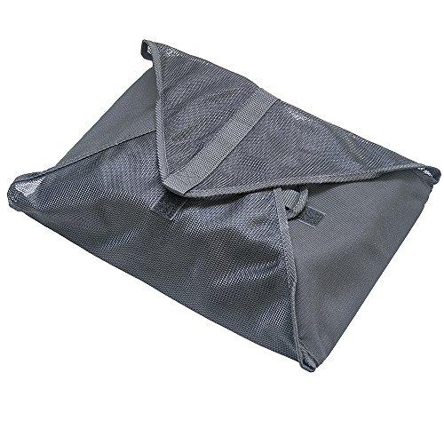 サクラクレパス トラベルポーチ 折りたたみ風呂敷タイプ メッシュ 黒 UNN-37#49