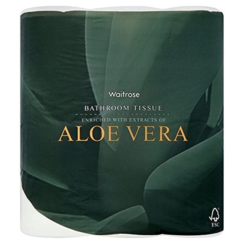 指紋直立シンボルパックあたりアロエベラ浴室組織白ウェイトローズ4 x2 - Aloe Vera Bathroom Tissue White Waitrose 4 per pack (Pack of 2) [並行輸入品]