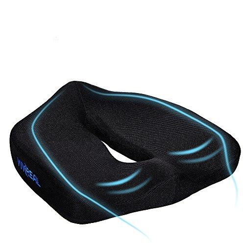座布団クッション ヘルスケア 事務用 座布団 高反発 腰痛対策 椅子 オフィス用 男女兼用 ブラック