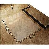 Wrcibo チェアマット 100×120cm 床保護マット 厚さ1.5mm 透明 PVC 無毒エコ素材 吸音 ずれない 傷防止 滑り止め 丸洗い可能 カット可能 幅広く使える 足元マット 机下/フロア/畳/床暖房/たたみ/ダイニング/オフィス/椅子
