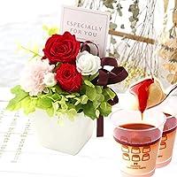 誕生日 の プレゼント バラ おいもやケーキ洋菓子 花とスイーツ プリザーブドフラワー アレンジメント お祝いギフト 冬…