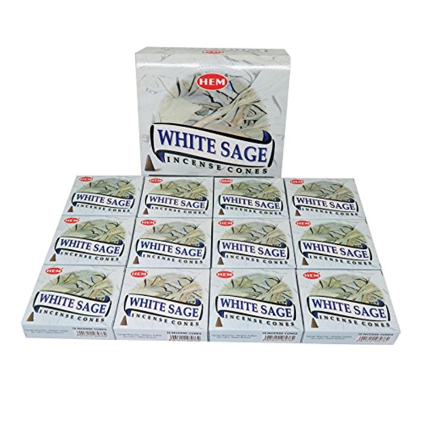 事業内容お酒個人的にHEM社 インド製 コーンタイプ香 1ケース12箱入 (ホワイトセージ)
