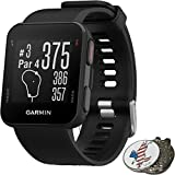 Garmin Approach S10 Golf GPS Watch Black + 1 Custom Ball Marker Clip Set (American Eagle) [並行輸入品]
