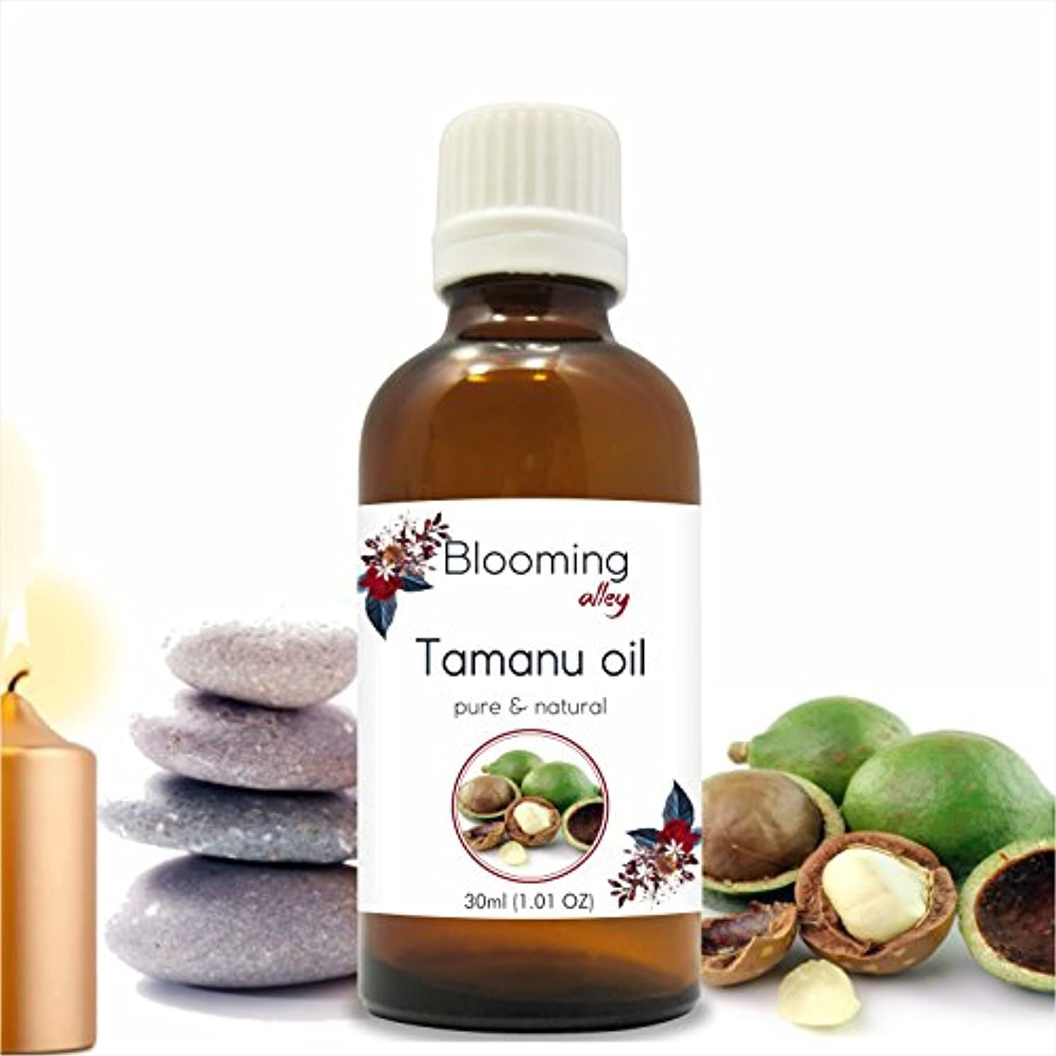 バインド月面内側Tamanu Oil(Calophyllum Inophyllum) 30 ml or 1.0 Fl Oz by Blooming Alley