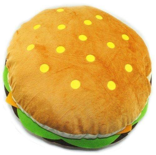 キュートハンバーガー絵文字ぬいぐるみソフトぬいぐるみ枕イエローラウンド絵文字スマイリーPlush Toy 11?