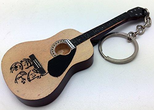 [해외][Musical Story] 미니 기타 열쇠 고리 BEATLES 존 레논 피스 바람/[Musical Story] miniature guitar key ring BEATLES John · Lennon peas style