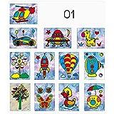 ZHUOTOP Art Kit Sand Painting Handmade Creative Drawing Board Sets Paper Craft 12Pcs Boy