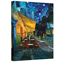 ArtWall Cafe Terrace at Night by Vincent Van GoghギャラリーWrappedキャンバスアート、36by 48-inch