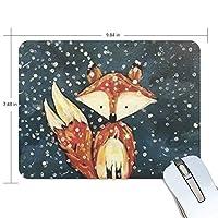 マウスパッド 冬の狐 ゲーミングマウスパッド 滑り止め 19 X 25 厚い 耐久性に優れ おしゃれ